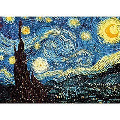 LONSSEN Jigsaw Puzzles 1000 Pieces for Adults & Children Kids, Cardboard Puzzles, Themes Puzzle Sets for Family, Educational Games, Floor Table Brain Challenge Puzzle (Starry Sky): Toys & Games