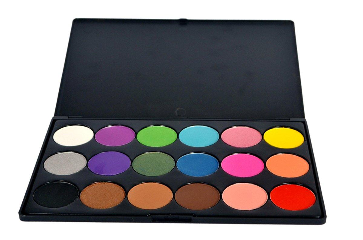 FantasyDay® 18 Couleurs Fard à Paupières Palette de Maquillage Cosmétique Set #1 - Convient Parfaitement pour une Utilisation Professionnelle ou à la Maisons