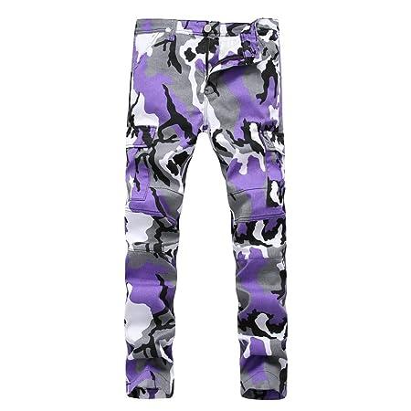 Weentop Pantalón de chándal para Hombre Pantalones de Camuflaje ...
