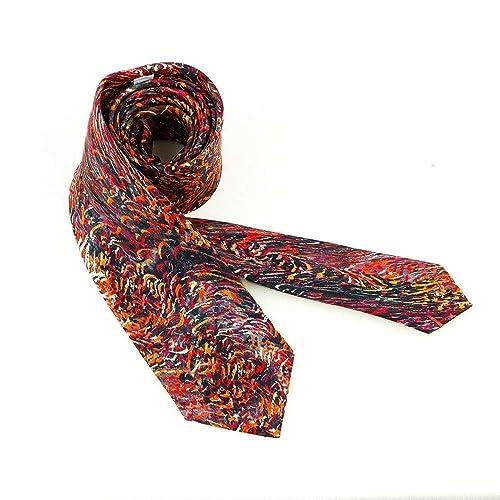 Corbata alegre en rojo y negro, Regalo para hombre y complemento para boda diferente: Amazon.es: Handmade