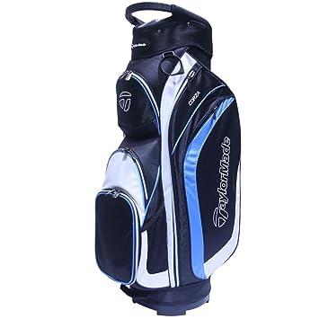 TaylorMade Corza Bolsa para Palos de Golf, Hombre, Negro/Gris / Azul, Talla Única: Amazon.es: Deportes y aire libre
