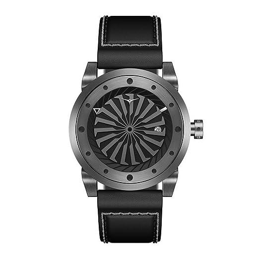 Zinvo Blade Gunmetal Turbine - Reloj de Pulsera automático para Hombre (Acero Inoxidable, indicador de Fecha, Correa de Piel), Color Gris: Amazon.es: ...