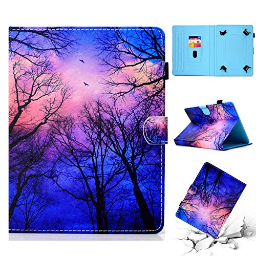 Universal Case for 10 Inch Tablet, UGOcase PU Leather Cards Pocket Slim Folio Wallet Case Cover for iPad Pro 9.7 2018/2017, Galaxy Tab A 9.7/ Tab E 9.6, RCA, LG, Acer More 10' Tablet, Forest