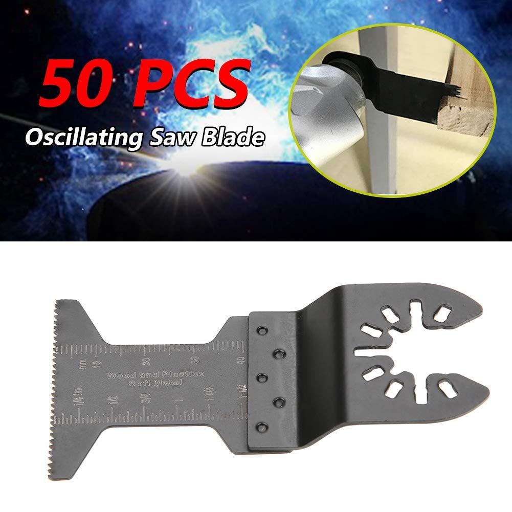 50 unids 45 mm de Acero de Alto Carbono Oscilante Multifuncional Sierra de Corte Conjunto de Herramientas de Accesorios