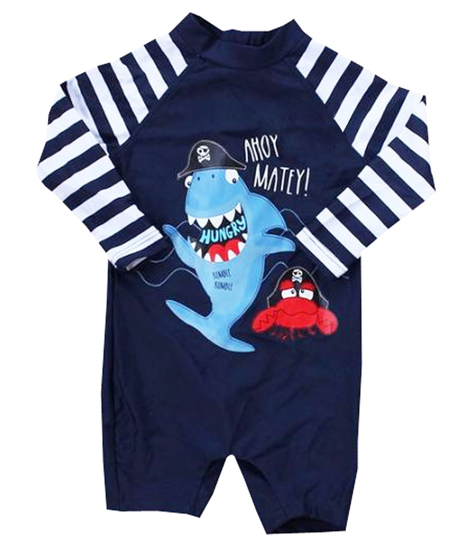eKooBee Infant Baby Boys Sunsuits Rash Guard Swimsuit Swimwear UPF 50+ Sun Protection