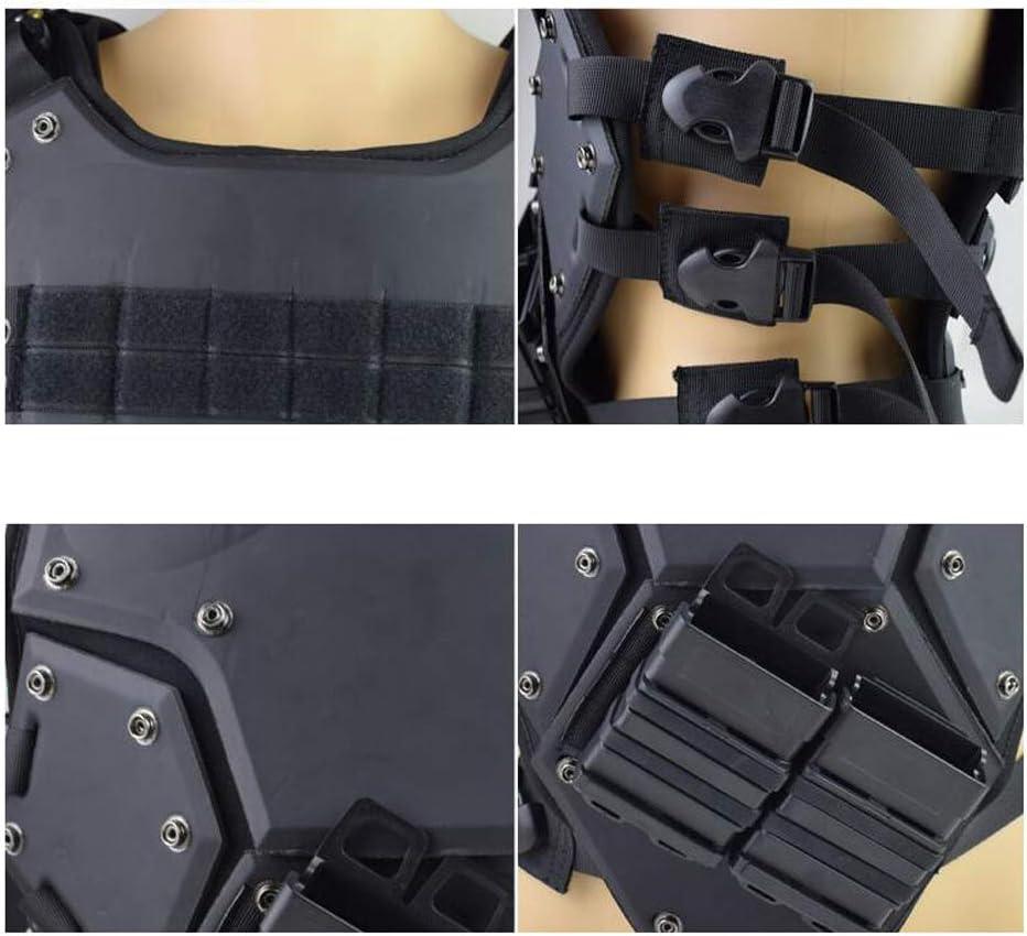 SPECTER Taktischen Weste Feld Kampftraining Vest Neopren-R/üstung Verstellbarer Schultergurt Leichte f/ür Outdoo CS Spiel Cosplay des Counter Strike Jagd