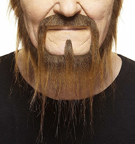 Mustaches Self Adhesive, Novelty, Fake, Long Squatter Beard, Brown Color by Mustaches