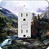 Rikki Knight 3317 GFI Single Thomas Moran Art Mounting of The Holy Cross Design Light Switch Plate