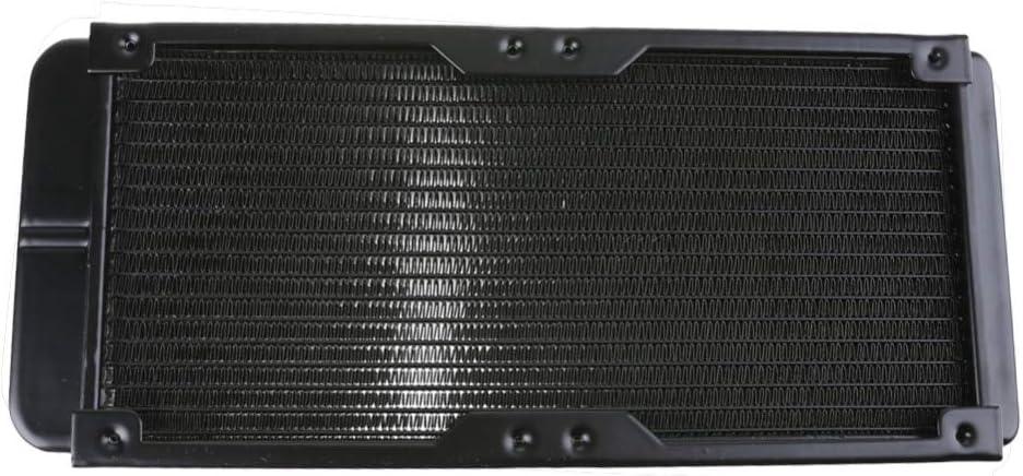 PrinceShop Water Cooling 240mm 18 Tubes Aluminum Radiator with Screws Heat Sink Part Exchanger CPU Heat Sink For Laptop Desktop Computer