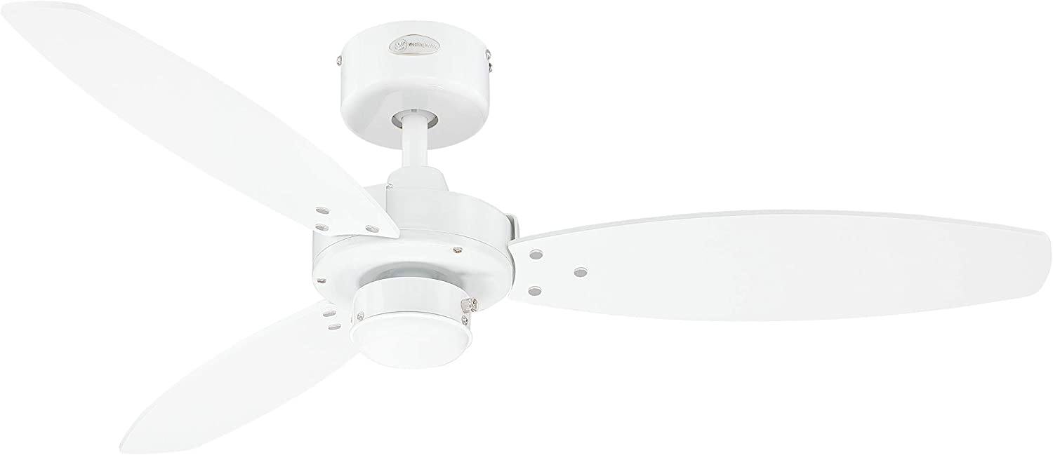 Westinghouse Lighting Jet II Ventilador de Techo, Blanco
