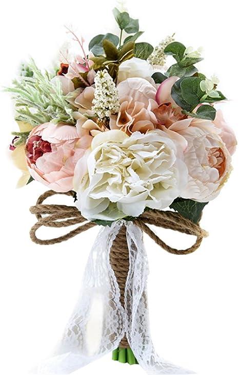 Amazon Com Wedding Bouquet Plastic Bridesmaid Bouquet Bridal