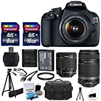 Canon EOS Rebel T5 18MP EF-S Digital SLR Camera Bundle with Tripod and Accessories (16 Items) Basic Intro Review Image