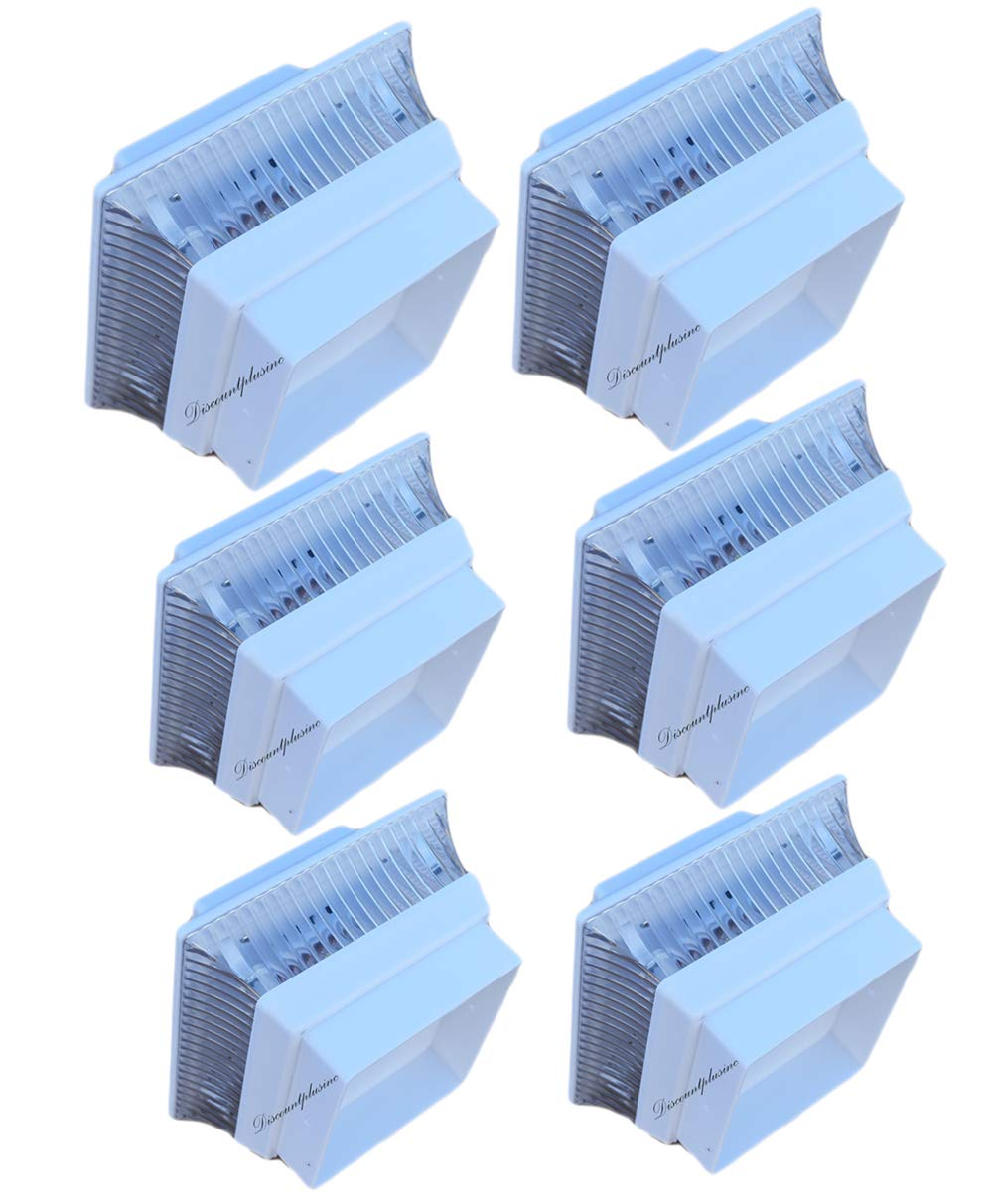 6 PACK BRIGHT WHITE (2) SMD LED's Solar Powered Post Cap Fence Deck Lights 4x4 Wood Post (NOT FOR PVC)
