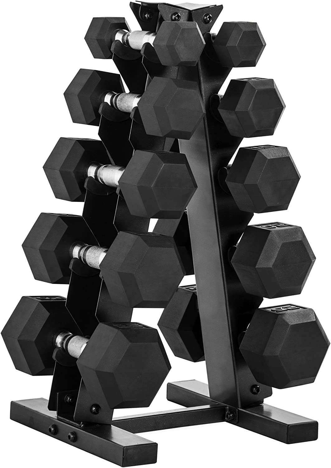 WF Athletic Supply Rubber Coated Hex Dumbbell Set – Non-Slip Hex Shape