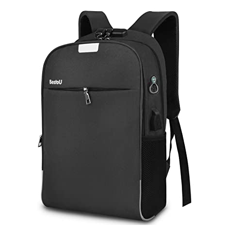 BestoU Mochila para portatil 15.6 Pulgadas Mochilas Hombre USB Laptop Backpack antirobo Impermeable para Viaje,