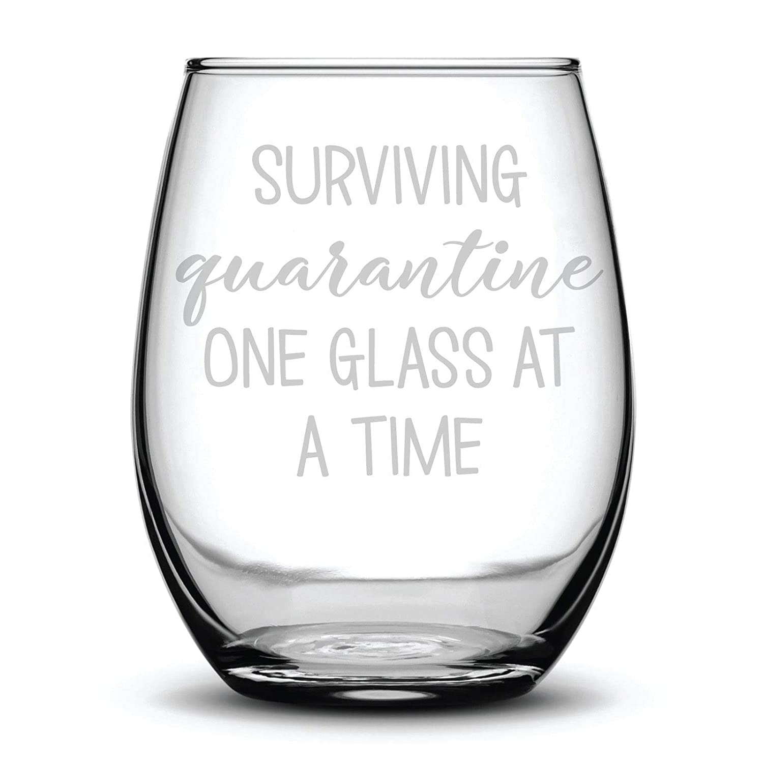 2020 etched wine glass funny wine glass pandemic Etched Wine Glass: Winedemic quarantine corona virus