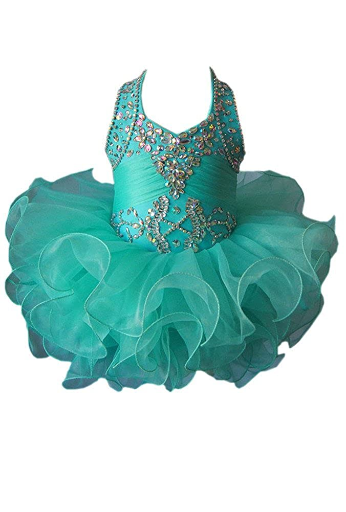 G.CHEN ChengCheng Baby Girls Halter Cupcake National Infant Pageant Dresses