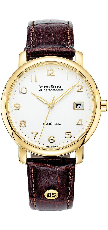 Bruno SÖhnle Herren-Armbanduhr Momento Analog Quarz Leder 17-33016-223