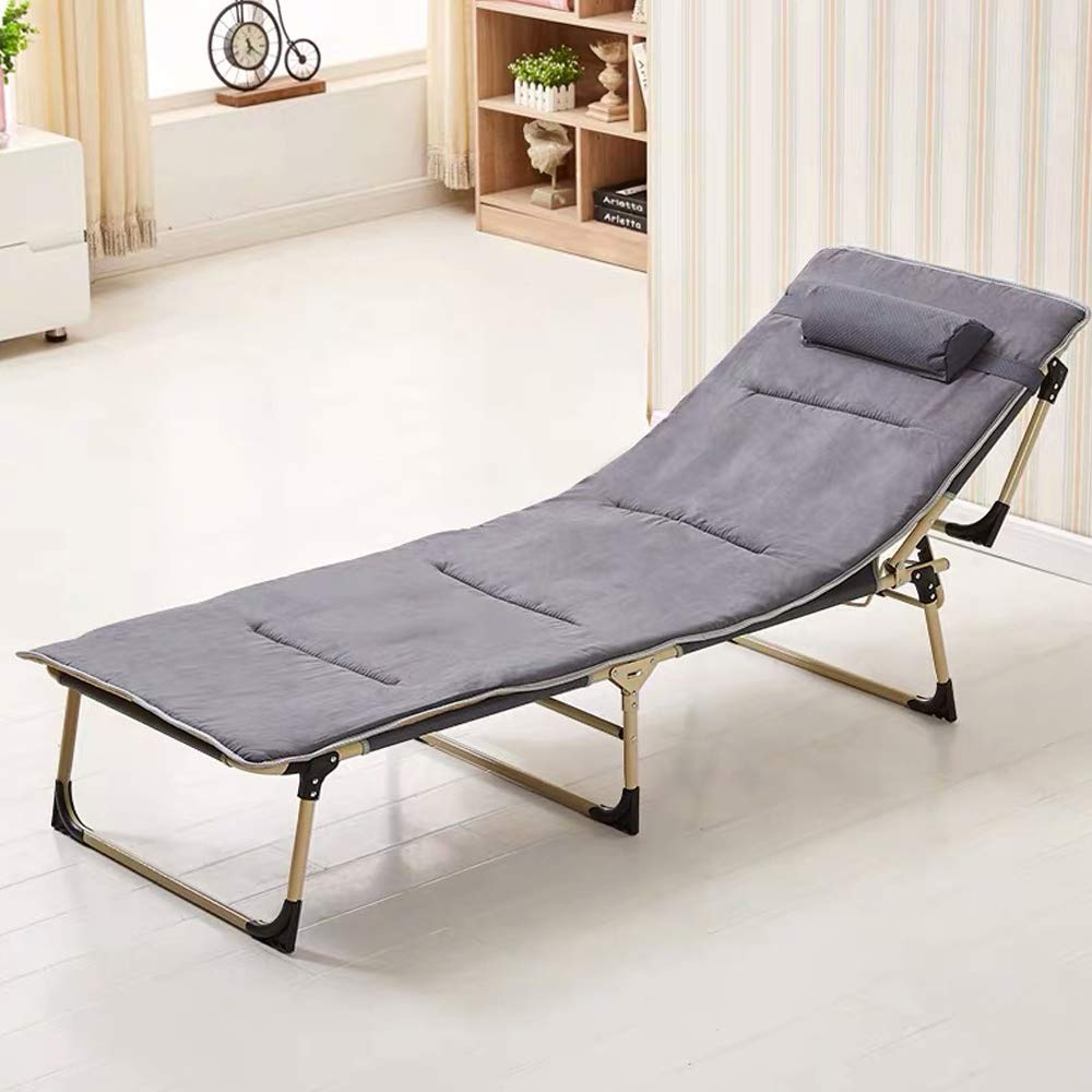 Fully Assembled Purple Homeway Foldable Sun Lounger Camp Bed Recliner