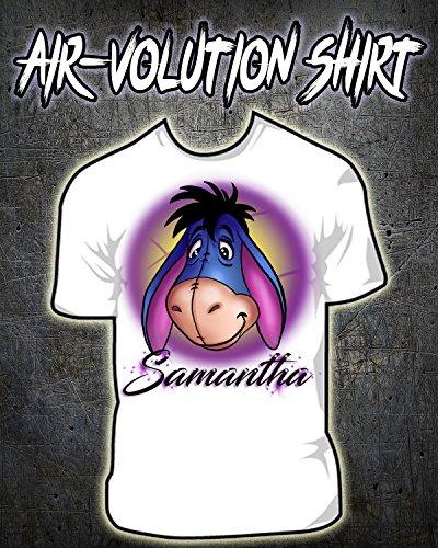 Personalized Airbrush Eeyore Shirt by Mythic Airbrush