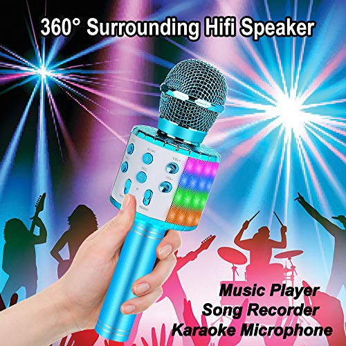 ZZLWAN Karaoke Microphone for Kids Gifts Age 4-12,Hot Toys for 5 6 7 8 Year Old Girls Singing Microphone,Popular Birthday Presents for 9 10 11 12 Year Old Teenager