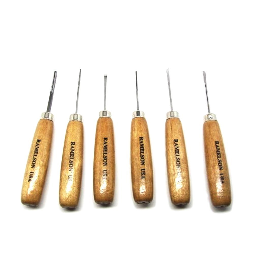 6pc Micro Miniature Wood Carving Tools Luthier Violin Set Ramelson USA 116H UJ Ramelson