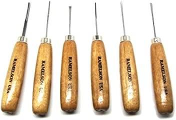Ramelson 4pc Mini Turning Tool Set Woodturning Tools Wood Carving Jewelry Tools
