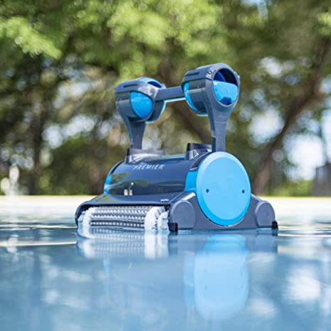 Dolphin Premier Robotic Pool Cleaner with Powerful Dual Scrubbing Brushes  and Multiple Filter Options, Ideal for In-ground Swimming Pools up to 50 ...