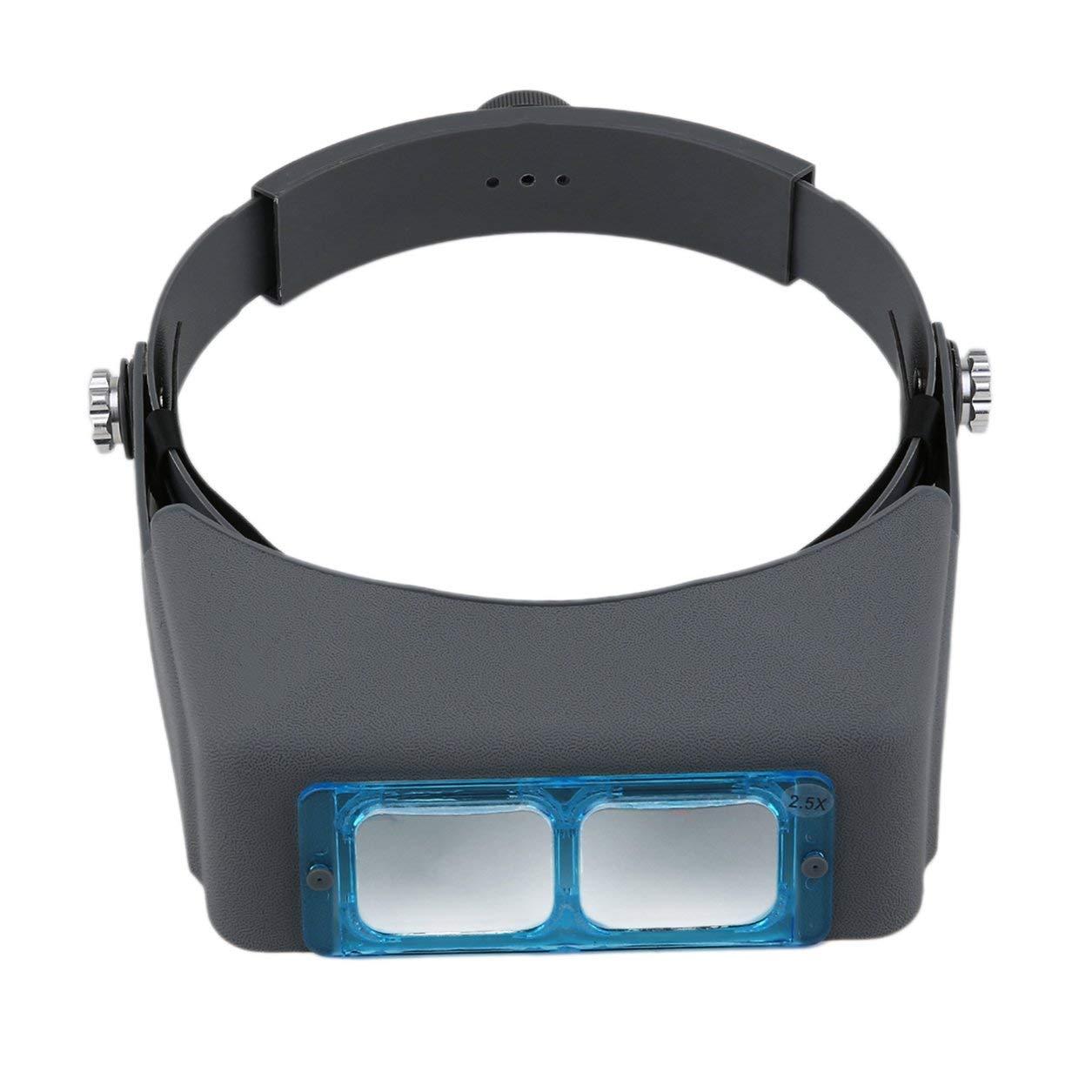 Dailyinshop Casco de la Cabeza del Doble de la Lente de la Lupa El Uso de Dispositivos precisa Mejora de la Vista
