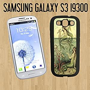 Vintage Mermaid Seahorse Illustration Custom made Case/Cover/skin FOR Samsung Galaxy S3-Black - Rubber Case ( Ship From CA)