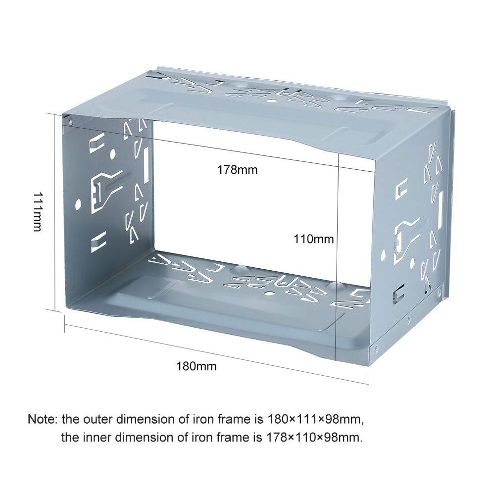 Kit dinstallation Universelle pour Fer Y0013 Cage de Fixation avec Cadre pour autoradio st/ér/éo
