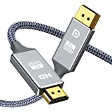 DisplayPort to HDMI Cable 1.8M,Snowkids DP to HDMI Cable Unidirectional Cord 4Kx2K@30Hz,4K UHD 2160P Display Port to…