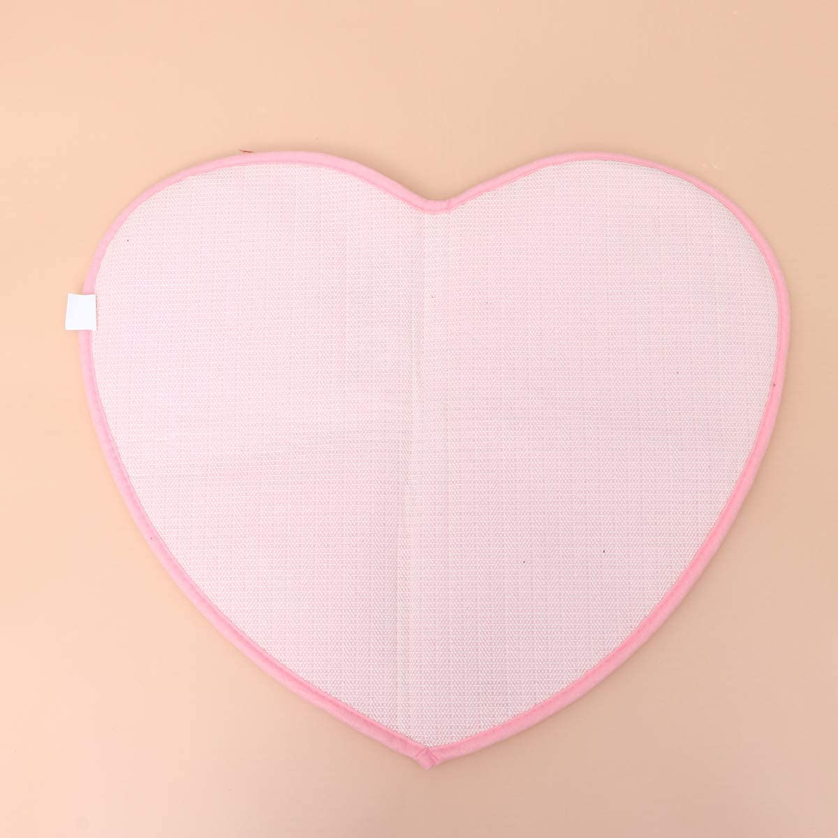 rosa 50 60 cm Carino amore cuore a forma di antiscivolo morbida microfibra ciniglia soffice bagno camera da letto tappeto tappeto tappeto