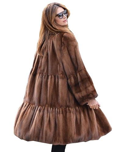 Aox - Abrigo - Gabardina - para mujer marrón marrón 38