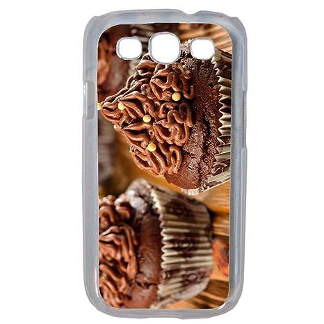 Carcasa Cupcakes Chocolate con leche compatible Samsung S3 ...