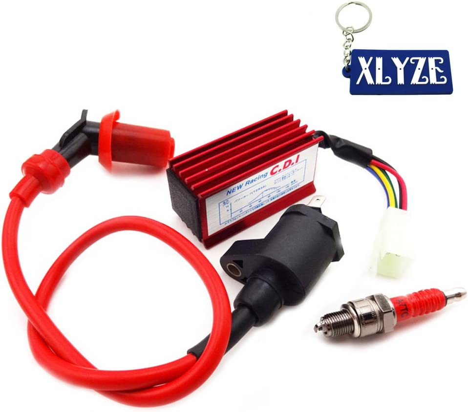 XLYZE Racing 5 Pin AC CDI Ignition Coil Spark Plug For Honda Dio Elite SB50 SA50 Spree SYM DD50 Arnad