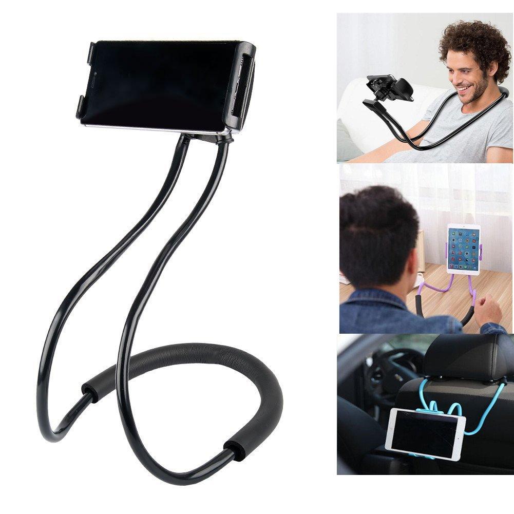 セル電話ホルダー、Bhbuy Lazyハングネック携帯電話スタンド、柔軟なDIYフリー回転マウント複数機能付きモバイル3.5 – 6.3インチランダム色 B078RYGRJF