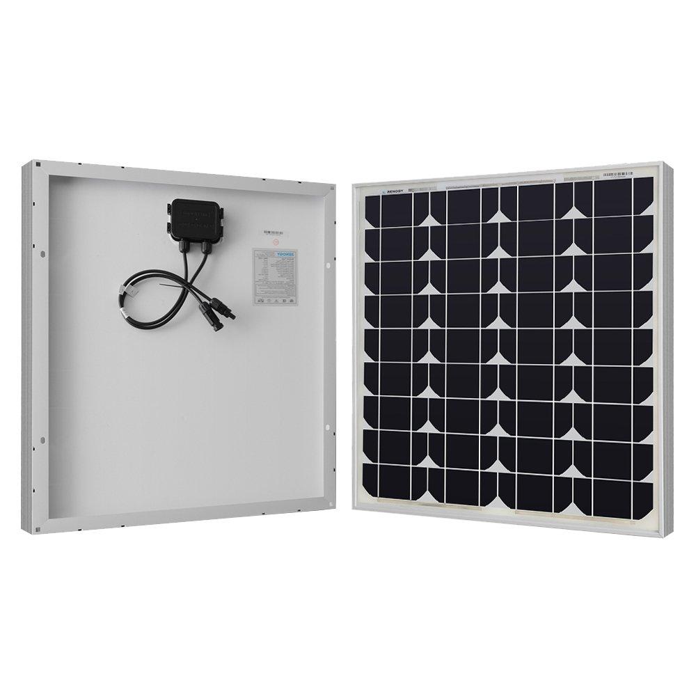 Renogy 50 Watts 12 Volts Monocrystalline Solar Panel Cell Voltage Regulator Circuit Diagram Super Garden Outdoor