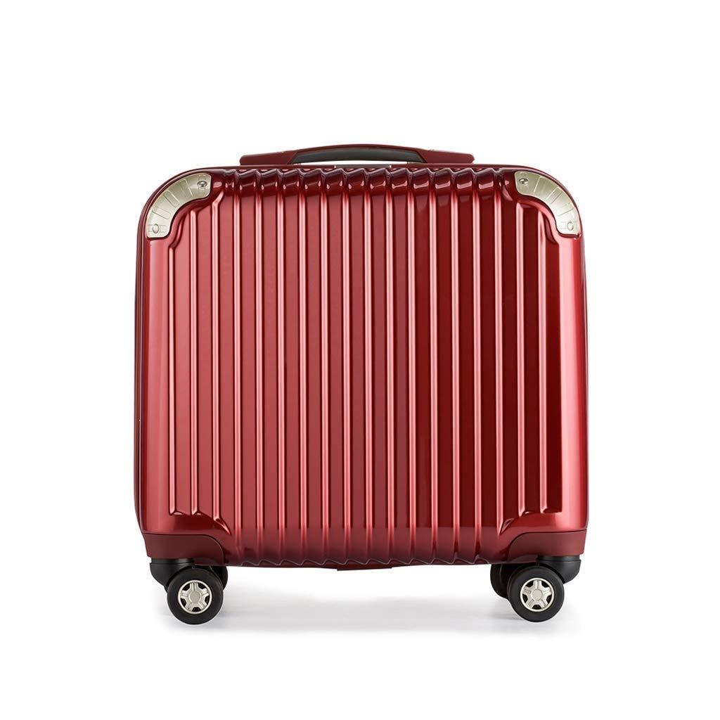 軽量軽量ハードシェルスピナー荷物を運ぶミニライト(16インチ/ 18インチ) (色 : 赤, サイズ さいず : 18 inches) B07SCTGPGQ 赤 18 inches
