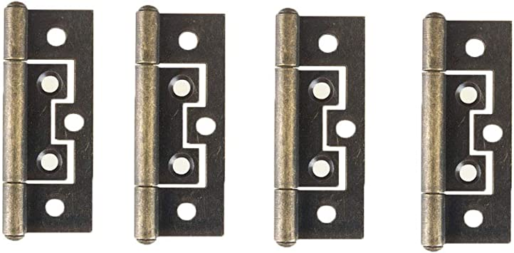 Rectangle Folding Cupboard Closet Door Hinge Hardware 1.5-inch 20 Pieces