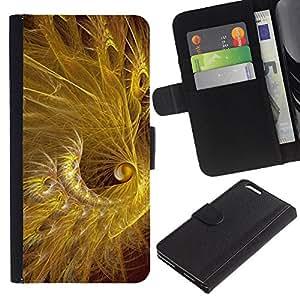 KingStore / Leather Etui en cuir / Apple Iphone 6 PLUS 5.5 / oro lucido nero