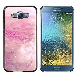 Eason Shop / Premium SLIM PC / Aliminium Casa Carcasa Funda Case Bandera Cover - Blanco Nube de lluvia de primavera abstracta - For Samsung Galaxy E7 E700