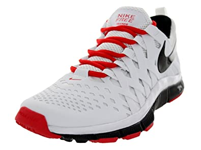 competitive price c715d 63909 Nike Men s Free Trainer 5.0 White Black Lt Crimson Training Shoe 8 Men US