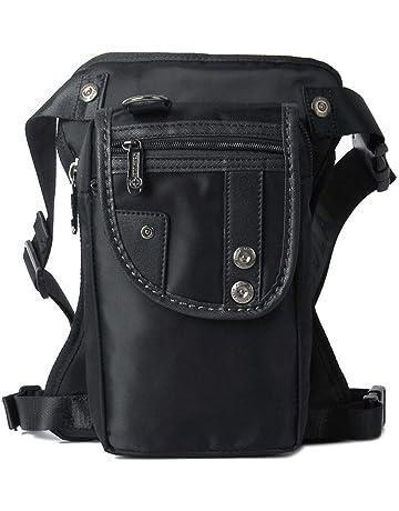 b29cefd5b3d Hebetag Waterproof Oxford Drop Leg Bag for Men Motorcycle Riding Thigh  Waist Fanny Pack Mens Multi