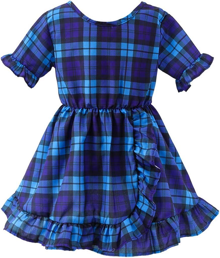 Filles B/éb/é Robes Princesse Dress Plaid /à Volants Dress Girls Skirt Deguisement Enfant Jupe Tutu Anniversaire F/ête