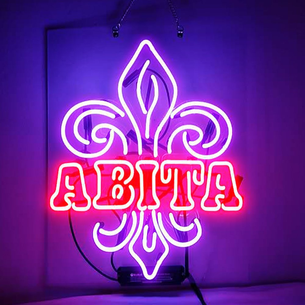 Abita Real Glass Beer Bar Pub Store Party Room Windows Wall Decor 19x15