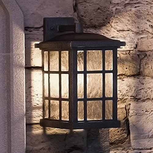 Luxury Craftsman Outdoor Wall Light, Medium Size: 17