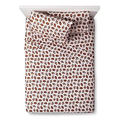 Pillowfort Kids/Adult Football Twin Sheet Set- White by Pillowfort