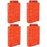 Chargeur, LIKELUK Lot de 4 Chargeurs de 6-Fléchettes pour Nerf N-Strike Elite - Orange transparent