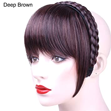 Amazon.com   GM Brost Womens Headband Neat Bangs Fake Forehead Hair  Extensions   Beauty 5223f1c82
